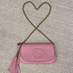 NEW Authentic Gucci Pink Soho Crossbody Bag